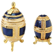 Design Toscano The Royal Family Collection Romanov Style Enameled Eggs Set