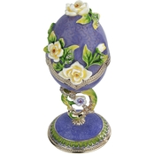 Design Toscano Spring Bouquet Collection Romanov Style Enameled Egg