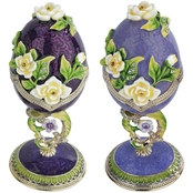Design Toscano Spring Bouquet Collection Romanov Style Enameled Egg Set