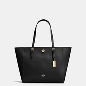 Coach Women's Turnlock Tote Handbag Black