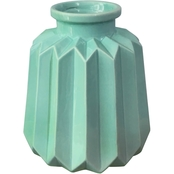 Simply Perfect Pleated Ceramic Vase