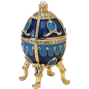 Design Toscano The Pushkin Collection Romanov Style Enameled Egg, Natalia