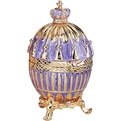Design Toscano The Regal Purple Collection Romanov Style Enameled Egg, Tassel