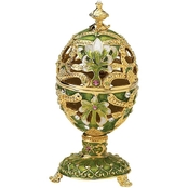 Design Toscano The Petroika Collection Romanov Style Enameled Egg, Elena