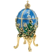 Design Toscano The Empress Collection Romanov Style Enameled Egg, Valentina