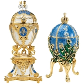 Design Toscano The Empress Collection Romanov Style Enameled Eggs Set