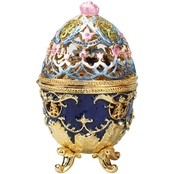 Design Toscano The Royal Garden Collection Romanov Style Enameled Egg, Hummingbird