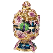 Design Toscano The Royal Garden Collection Romanov Style Enameled Egg, Ladybug