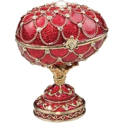 Design Toscano Royal Palace Romanov Style Enameled Eggs, Gatchina