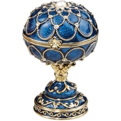Design Toscano Royal Palace Romanov Style Enameled Eggs, Peterhof
