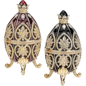 Design Toscano Alexander Palace Collection Faberge Style Enameled Eggs Set