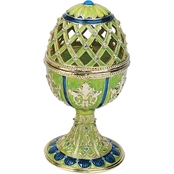 Design Toscano Jeweled Trellis Collection Romanov Style Enameled Egg, Verte
