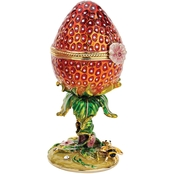 Design Toscano Garden Treasures Collection Romanov Style Enameled Egg, Strawberry