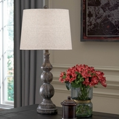 Signature Design by Ashley Mair Poly Table Lamp Antique Black Casual 2 Pk.