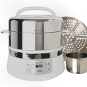 Euro Cuisine FS2500 Stainless Steel Two Tier Electric Food Steamer