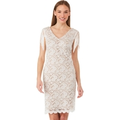 Connected Apparel Stretch Lace Dress