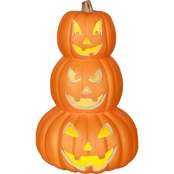 Gemmy Trio Blow Mold Pumpkin Stack