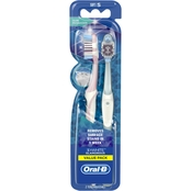 Oral-B 3D White Glamorous Manual Toothbrush with Soft Bristles 2 Ct.