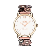 COACH Delancey Tea Rose Flower Applique Watch 14502822