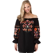 Poof Juniors Embroidered Detail Dress