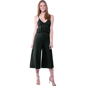 Poof Juniors Ruffle Front Jumpsuit