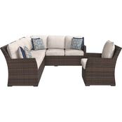 Ashley Salceda Sectional and Chair Set