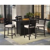 Ashley Perrymount Bar Table with 6 Barstools