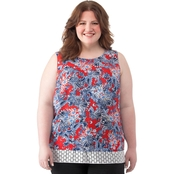 Status by Chenault Plus Size Floral Tank
