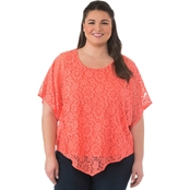 Status By Chenault Plus Size Lace Poncho