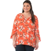 Status By Chenault Plus Size Tulip Sleeve Top