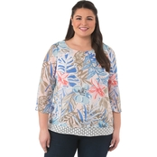 Status By Chenault Plus Size Overlay Tunic