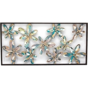 Simply Perfect Whimsy Flowers Metal Wall Decor