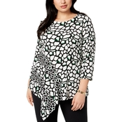 Alfani Plus Size Asymmetrical Top