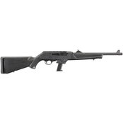 Ruger PC Carbine 9MM 16.12 in. Threaded Fluted Barrel 17 Rds Rifle Black