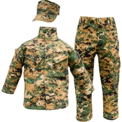 Trooper Clothing Kids 3 Pc. Marine Woodland Uniform Set