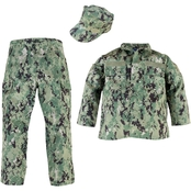 Trooper Clothing Kids 3 Pc. Navy NWU III Uniform Set