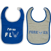 Trooper Clothing Infants Air Force Graphic Cotton Bibs 2 pc. Set