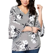Charter Club Plus Size Flared Sleeve Tunic