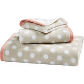 Martha Stewart Collection Cotton Spa Fashion Dot Bath Towel Collection
