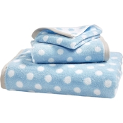 Martha Stewart Collection Cotton Spa Fashion Dot Wash Towel Collection