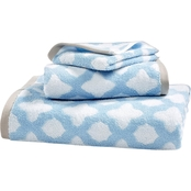 Martha Stewart Collection Cotton Spa Fashion Tile Wash Towel Collection