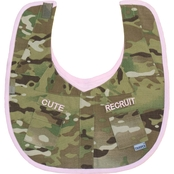 Trooper Clothing Infant Girls Multicam Cute Recruit Uniform Bib