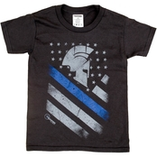 Trooper Clothing Little Kids Thin Blue Line Spartan Tee