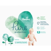 Pampers Pure Protection Diapers Size 4 (22-37 lb.) 52 Ct.