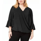 INC International Concepts Plus Size High Low Blouse