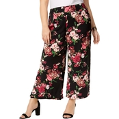 INC International Concepts Plus Size Floral-Print Wide Leg Capris