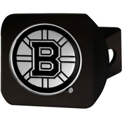Fan Mats NHL Black Chrome Hitch Cover