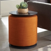 Scott Living Round Accent Table with Ottoman