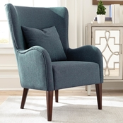 Scott Living Winged Accent Chair with Curving Arms and Backrest