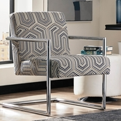 Scott Living Modern Accent Chair with Geometric Pattern